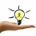 tip idee lampje op hand